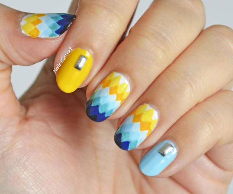 Ombre Diamonds nail art by NailsContext