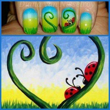 Love bugs nail art by Diana van Nisselroy