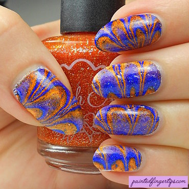 Polish m blue and orange marble thumb370f