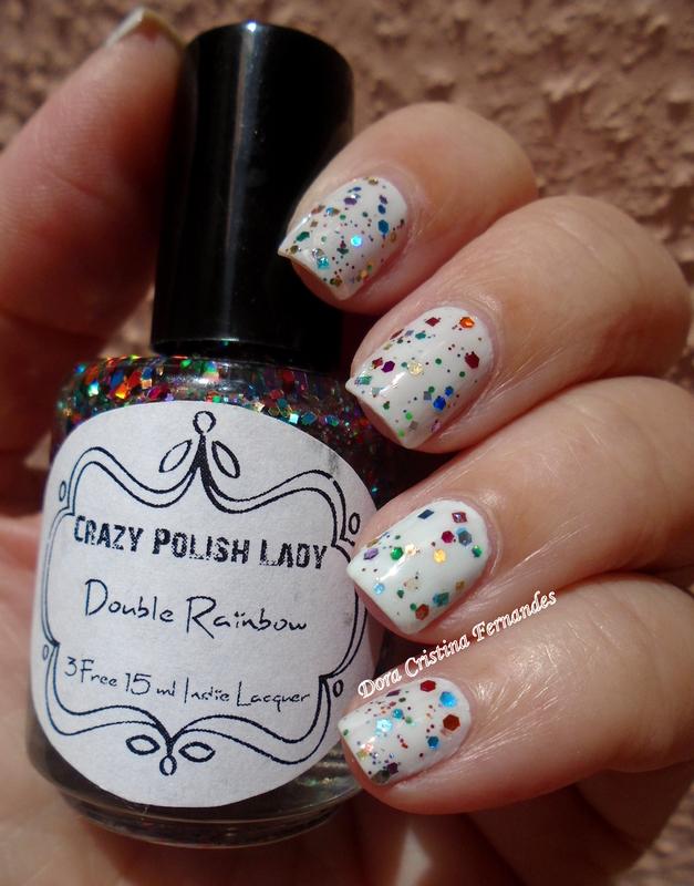 Double Rainbow nail art by Dora Cristina Fernandes