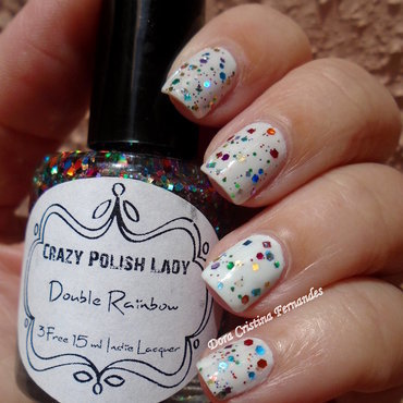 Double Rainbow nail art by Dora Cristina Fernandes