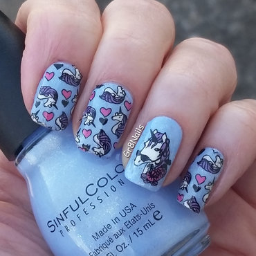 Unicorns nail art by Gr8Nails