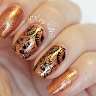 Glamorous Carnivorous Beauties nail art by Kay's Polish
