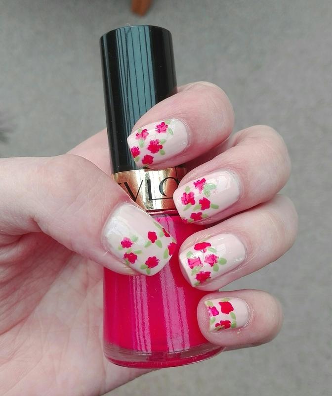 Free hand flowers nail art by Daisyq
