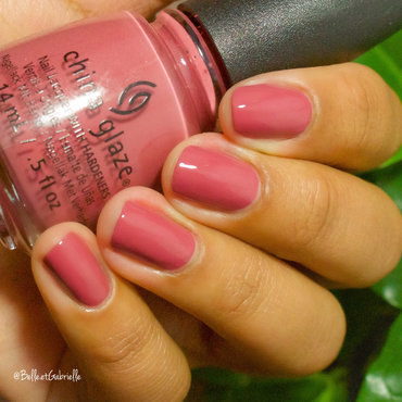 "Swatch of China Glaze ""Fifth Avenue"" nail art by Gabrielle"