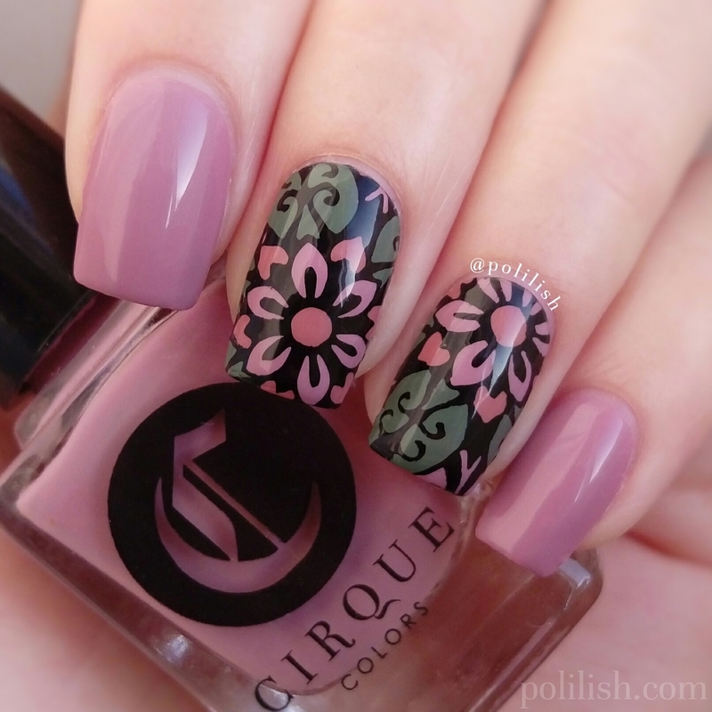 Pastel flowers nail art by polilish