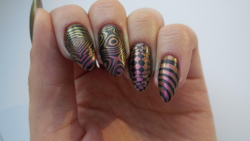 Stamping nail art nail art by MaliNaila