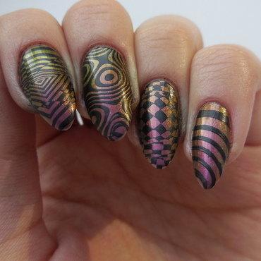 Stamping nail art nail art by Werterownia