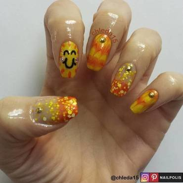 Everybody Loves the Sunshine nail art by chleda15