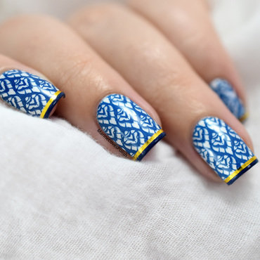 Blue Madness nail art by Marine Loves Polish