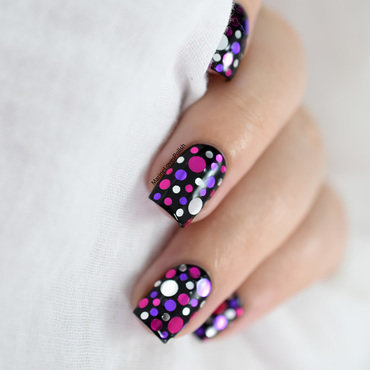 Mardi Gras confetti nail art nail art by Marine Loves Polish