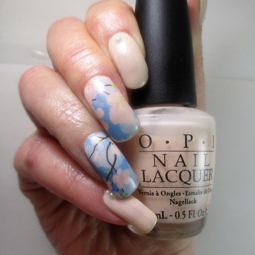 Pale Petals & Pearls nail art by NinaB