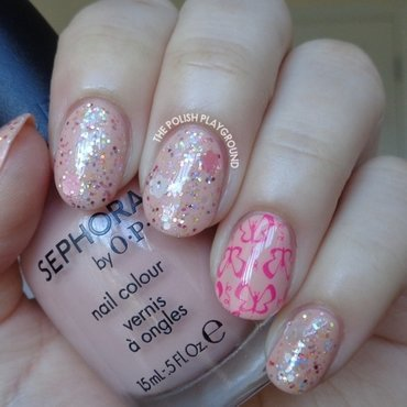 Pink 20glitter 20layering 20with 20butterfly 20stamping 20accent 20nail 20art thumb370f