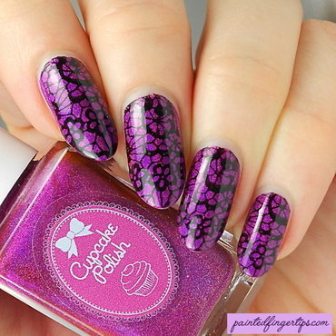 Berry good looking with lacy stamping thumb370f