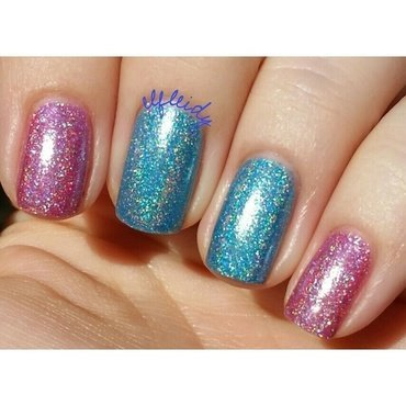Different Dimension Blue Raspberry Airheads and DIFFERENT dimension Thankful for You! Swatch by Jenette Maitland-Tomblin