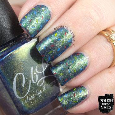 Duochrome shimmer matte confetti nail art 4 thumb370f