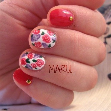 Spring nail art by Martina