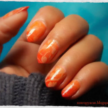 A touch of autumn nail art by notcopyacat