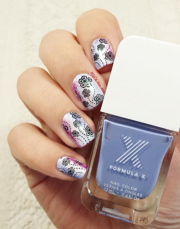 Fleur nébuleuses nail art by klo-s-to-me