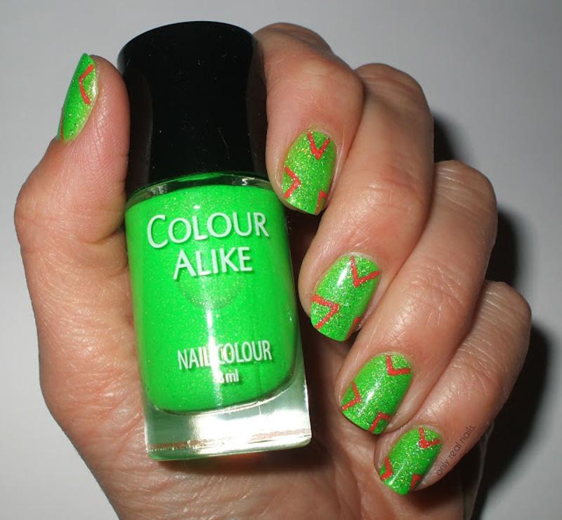 Neon Green Nail Art By Only Real Nails Nailpolis Museum Of Nail Art