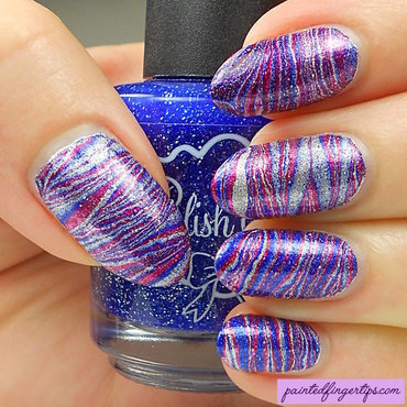 Polish 'M Water Marble 2 nail art by Kerry_Fingertips