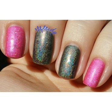 KBShimmer Oh Matte!, Cupcake Polish Folies Bergere, and Cupcake Polish Cheers! Swatch by Jenette Maitland-Tomblin
