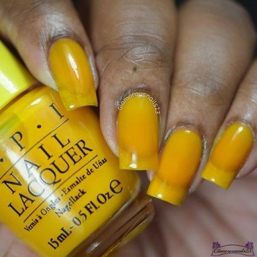 OPI Primarily Yellow Swatch by glamorousnails23