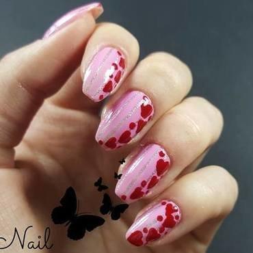 Heart nails nail art by Irina Nail