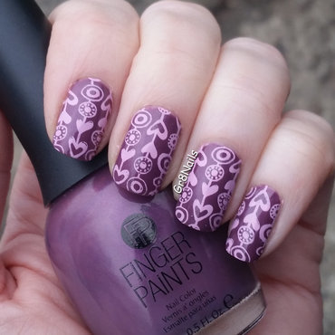 Pink and Purple nail art by Gr8Nails