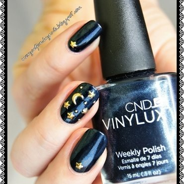 STARRY NIGHT nail art by ELIZA OK-W