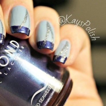 Blue French nail art by Kay's Polish