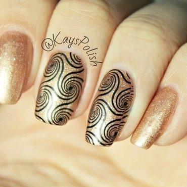 Cinnamon Swirls nail art by Kay's Polish