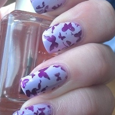 Wishing for Spring nail art by Kristyna
