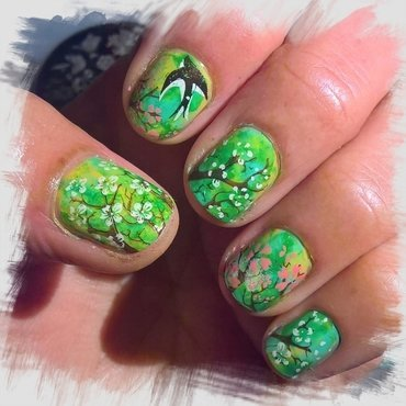 Spring Landscape over #smooshynailsunday  nail art by Avesur Europa