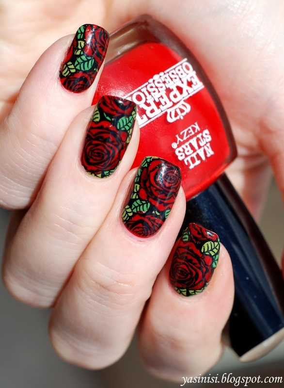 Roses are red.. ;) nail art by Yasinisi