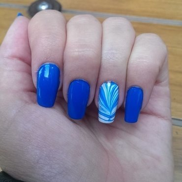 Blue Day nail art by Maria T.