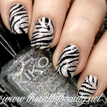 Zebra Manicure nail art by The Call of Beauty