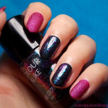 Sandy galaxy nail art by notcopyacat