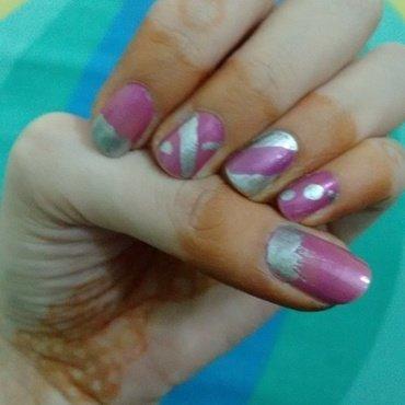 abstract nail art by aishu93