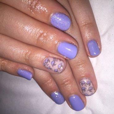 Lovebirds  nail art by Niki