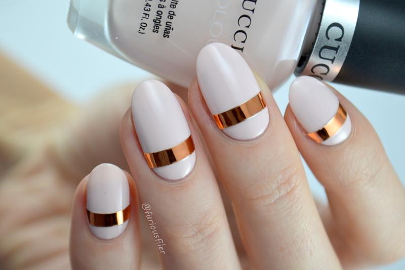 Simple Metallic Nail nail art by Furious Filer