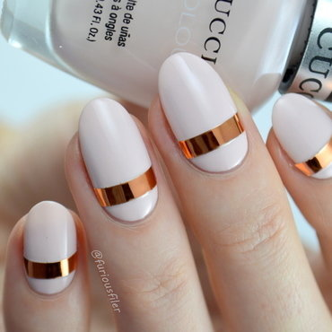 Simple Metallic Nail nail art by Furious Filer