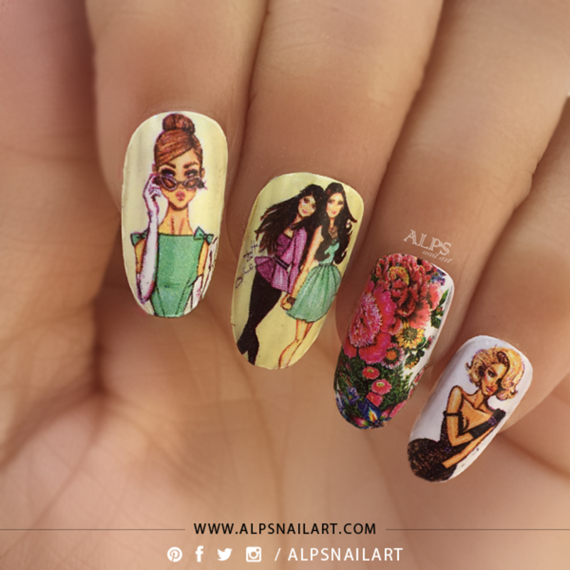 Women\'s Day Nail Art by @alpsnailart nail art by Alpsnailart ...