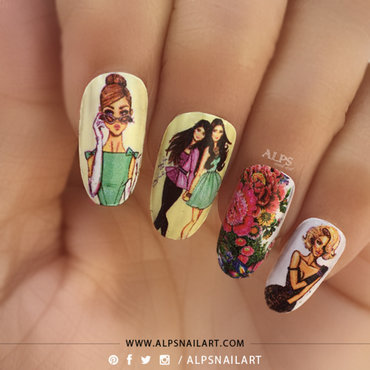 Women's Day Nail Art by @alpsnailart nail art by Alpsnailart