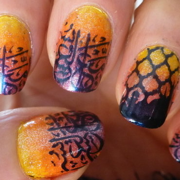 Thousand sunset nail art by Barbouilleuse