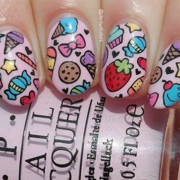 Sweets for my sweet! nail art by Plenty of Colors