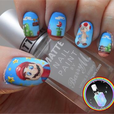 Mario nail art by Ithfifi Williams