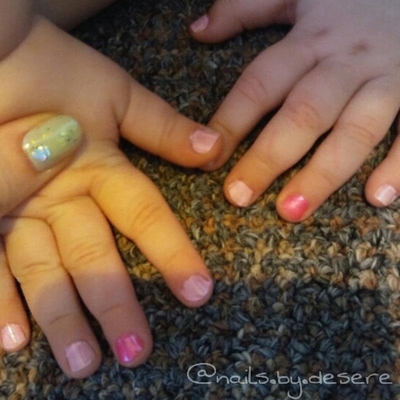 Pretty in Pink (mini edition) nail art by Desere Olson