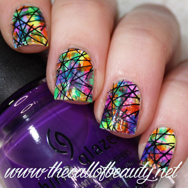Rainbow Dry Brush nail art by The Call of Beauty