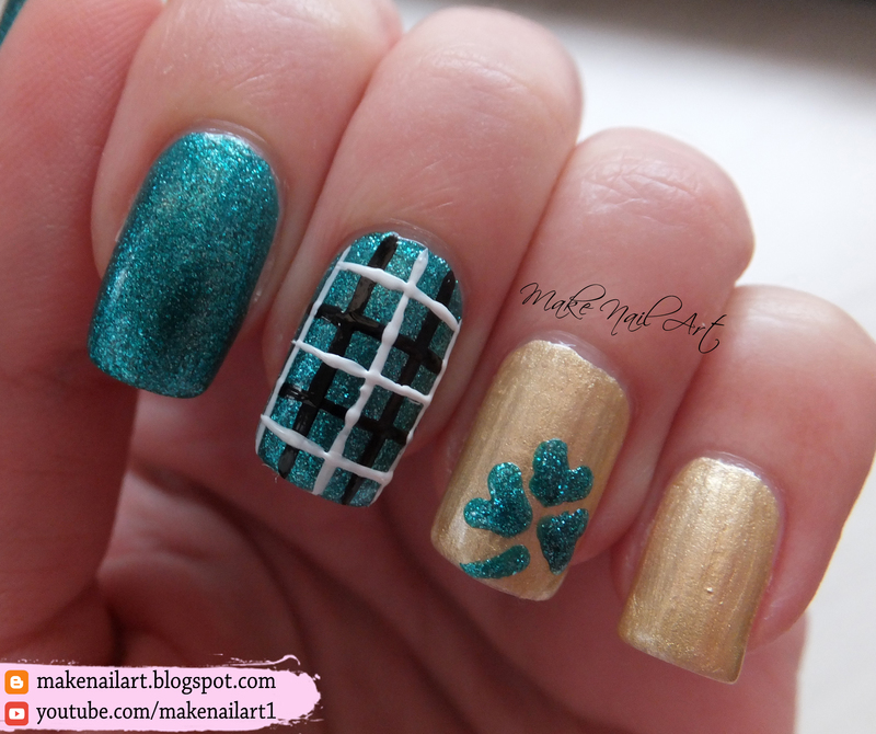 St Patricks Day Shamrock Nail Art Design Nail Art By Make Nail Art